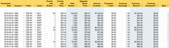 Portfolio Tracker - Transactions