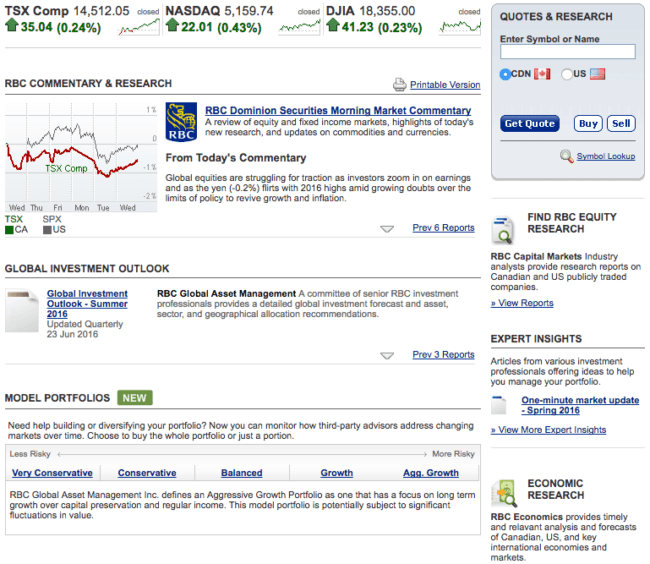 RBC Direct Investing - Research